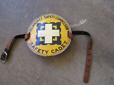 vintage 1940 Milwaukee Safety Commission Safety Cadet arm badge patrol band
