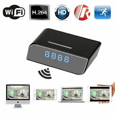 160º Wide Angle HD WIFI Spy Clock Night Vision Hidden Camera DVR Camcorder 720P