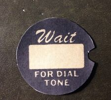 One New Western Electric telephone dial number card dial center number card.