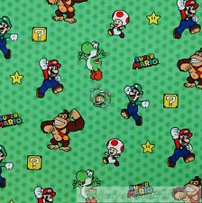 BonEful Fabric FQ Cotton Quilt Super Mario Brothers Nintendo Game Boy Character