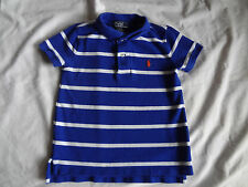 Boys Polo Ralph Lauren Short Sleeve Polo Shirt- Royal Stripe (3/3T)