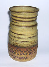 Vintage Broadstairs Studio Pottery - Attractive Stoneware Vase - Incised Mark.