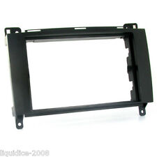 CT24MB16 MERCEDES VIANO 2007 ONWARDS BLACK DOUBLE ISO FASCIA FRAME ONLY