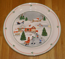 Vintage SANGO Silent Night Christmas Chop Plate Round Serving Platter - 11 3/4""