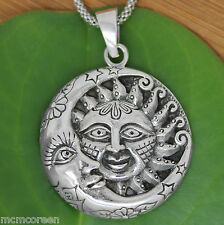 925 solid Sterling Silver Moon and Sun new design pendant