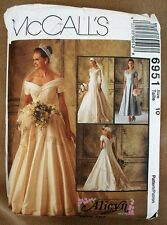 McCall's 6951 Misses' Bridal Gowns Bridesmaids' Dress wedding sewing patterns 10