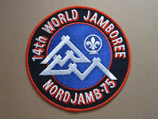 14th World Jamboree Nord Jamb 75 Woven Cloth Patch Badge Boy Scouts Scouting