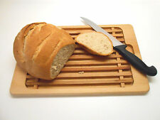 "Wooden Bread Cutting Board Crumb Catcher Board Bread Cutting Slicing 15"" x 10"""