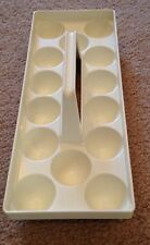 Vintage Ivory Refrigerator Egg Caddy Keeper Carrier Handled Gathering