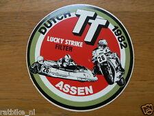 STICKER,DECAL DUTCH TT ASSEN 1982 LUCKY STRIKE FILTER SIDECAR MOTO GP