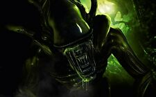 A1 ALIENS ALIEN CREATURE GREEN MOVIE LARGE WALL ART PRINT PREMIUM POSTER