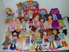 """Groovy Girls Lot 19 12"""" Doll Used New Trendy Backpack Chair Bed Sun Lounge EUC A"""