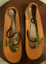 Arcopedico Women's Vitoria Leather Mary Jane Flat Shoes Orange 37  US 6.5-7