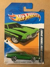 2012 Hot Wheels '72 Ford Gran Torino 351 Sport 117/247 Green With Black Stripe