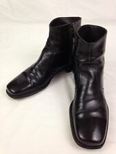 FLORSHEIM Mens Ankle Dress Boots 10.5 B Size Black Leather 661608 8 20477 FD