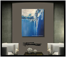 ABSTRACT CANVAS PAINTING MODERN WALL ART Listed by Artist, Signed, US  ELOISExxx