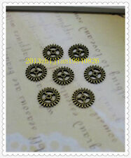 100pcs 10mm Antique silver/bronze Lovely Filigree Gear Charms Pendant