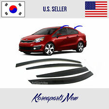 SMOKED DOOR WINDOW VENT SUN RAIN VISOR DEFLECTOR KIA RIO SEDAN 2012-2016