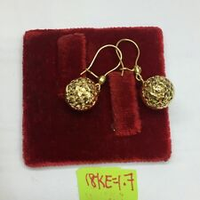 authentic gold gold ball earrings 18k saudi gold