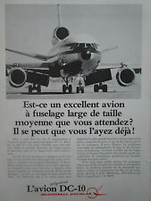 6/1979 PUB MCDONNELL DOUGLAS DC-10 AIRLINER AIRLINES ORIGINAL FRENCH AD