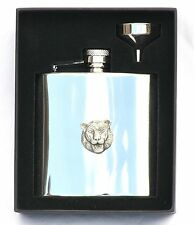 Tiger PB Design Stainless Steel Hip Flask Gift Boxed New Free Engraving