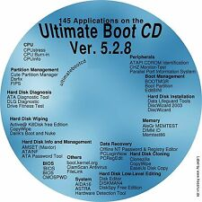Ultimate Boot Disc CD fixes Windows XP 7 8 10