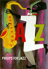 Art Poster - Philips for Jazz - 50s A3 Print
