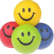 Wholesale LOT 12Pcs Happy Smiley Face Stress Relief Bouncy Squeeze Ball Toys New