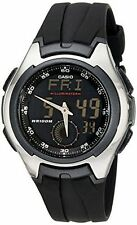 Casio Men's Combination Watch, 5 Alarms, 100 Meter W/R, Black Resin, AQ160W-1BV