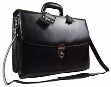 New High Quality Mens Genuine Leather Business Work Satchel Laptop Briefcase Bag