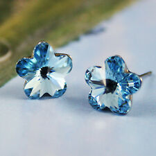 Daisy Flower Stud Earrings 9mm Crystal multicolours made with Swarovski Elements