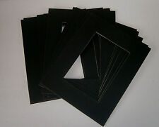 Set of 10 BLACK 8x10 Picture Mat Matting for 5x7 Photo