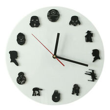 The Star Wars Iconic Wall Clock Sci-Fi Minifig Timepieces Handmade Hanging Clock