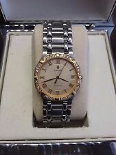Concord Saratoga Mens Watch Gold Stainless Steel, Diamond Bezel with Concord Box