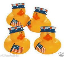 Set of 4 Patriotic Rubber Ducks Duckys 35486 Political July Fourth USA RWB
