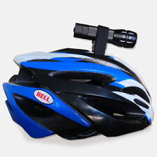 Bicycle Bike Helmet Torch Mount Velcro Cycle Light Flashlight Holder Clamp