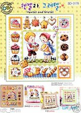 """""""Hensel and Gretel"""" Counted cross stitch chart.(pattern leaflet) SODA SO-3178"""