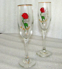 WALT DISNEY WDCC BEAUTY AND THE BEAST LIMITED EDITION CHAMPAGNE FLUTES PAIR (2)