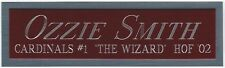 OZZIE SMITH NAMEPLATE FOR AUTOGRAPHED Signed BAT-BASEBALL-JERSEY-PHOTO-CAP CASE