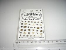 3D Nail tip Art stickers transfer water decals  Glitter Bling Gold J63
