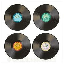Kitchen Craft 4 Retro Placemats - Stateside Vinyl Record Style Table Mats