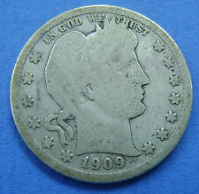 USA - Amerika - Barber quarter dollar 1/4 dollar 1909 D