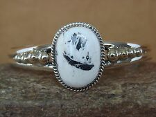 Navajo Indian Jewelry Sterling Silver White Buffalo Turquoise Bracelet! G. Boyd