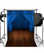 stage background wooden floor vinyl photography backdrops curtain 5x7ft photo