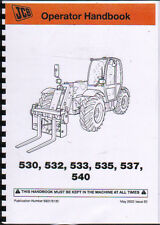 JCB 530/532/533/535/537/540 Telescopic Handler Loader Operator Handbook