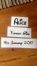 DISNEY FONT DIY HANGER STICKERS 1x NAME/DATE/ROLE Wedding Bride PERSONALISED