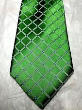 NAUTICA MEN'S TIE GREEN WITH WHITE STRIPES 61 x 4