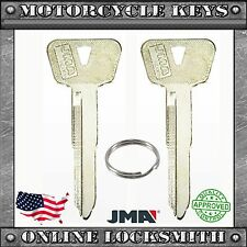 2 NEW BLANK KEYS FOR YAMAHA MOTORCYCLES LOCK CODES: A7001-A8500 KEYWAY YM63