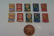 1/12 Scale Set of 10 Walkers Assorted Crisps dollshouse