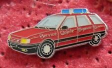 PIN'S SAPEURS POMPIERS VOITURE RENAULT 21 BREAK SERVICE MOBILE
